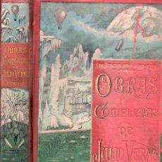 Libros antiguos: OBRAS COMPLETAS DE JULIO VERNE TOMO 1º (TRILLA Y SERRA - SÁENZ DE JUBERA). Lote 180261490