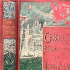 Libros antiguos: OBRAS COMPLETAS DE JULIO VERNE TOMO 2º (TRILLA Y SERRA / SÁENZ DE JUBERA / GASPAR). Lote 180262115