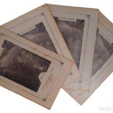 Libros antiguos: LOS DESCUBRIMIENTOS DEL GLOBO / JULIO VERNE. ED. ILUSTRADA. MADRID : SÁENZ DE JUBERA. 4 CUADERNOS . Lote 180288156