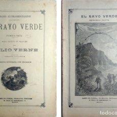 Libros antiguos: EL RAYO VERDE / JULIO VERNE. ED. ILUSTRADA. MADRID : SÁENZ DE JUBERA, [S.A.]. 2 CUADERNOS. Lote 180288545