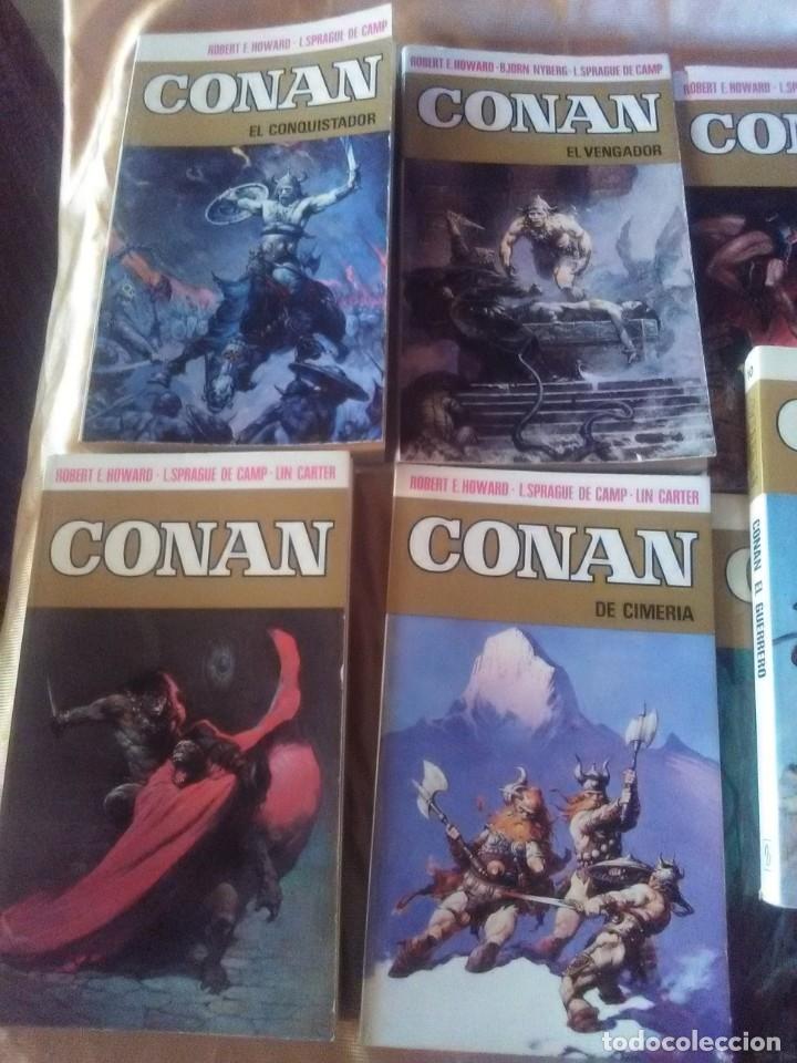 Libros antiguos: Colección Completa de 11 títulos CONAN - 1ª Edicion de 1973. - Foto 2 - 182920852
