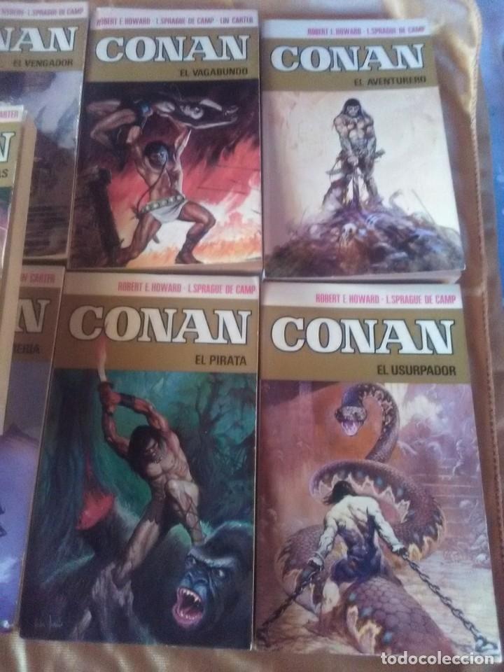 Libros antiguos: Colección Completa de 11 títulos CONAN - 1ª Edicion de 1973. - Foto 3 - 182920852