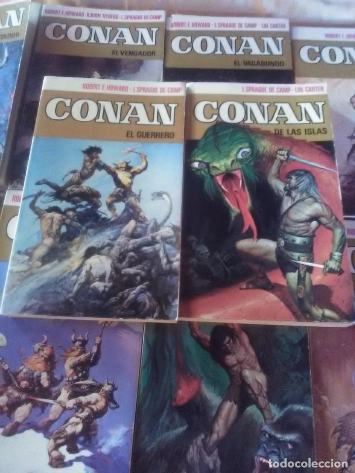 Libros antiguos: Colección Completa de 11 títulos CONAN - 1ª Edicion de 1973. - Foto 4 - 182920852