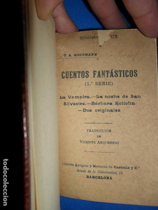 CUENTOS FANTÁSTICOS, ETA HOFFMANN, ED. TIBIDABO, 1ª SERIE, LA VAMPIRA, NOCHE SAN SILVESTRE..., (Libros antiguos (hasta 1936), raros y curiosos - Literatura - Narrativa - Ciencia Ficción y Fantasía)