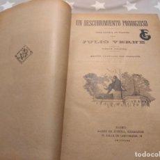 Libros antiguos: ANTIGUOS 9 LIBROS JULIO VERNE AÑO 1900 CON GRABADOS. SAENZ DE JUBERA. Lote 186187427