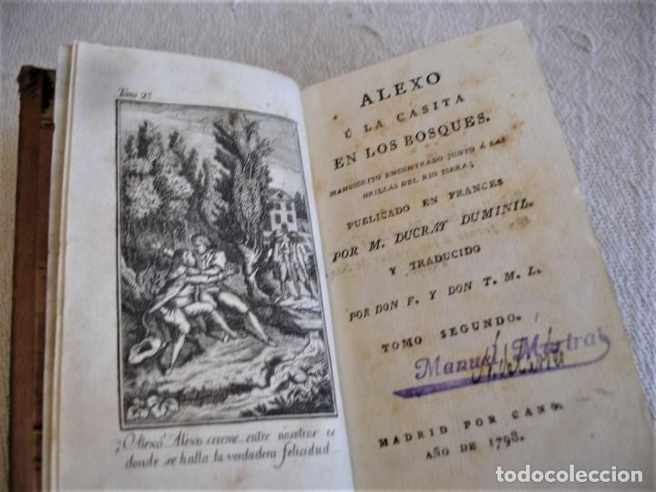 Libros antiguos: 1798. DUCRAY DUMINIL: ALEXO U LA CASITA EN LOS BOSQUES - Foto 10 - 191847688