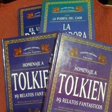 Libros antiguos: HOMENAJE A TOLKIEN - 4 LIBROS. Lote 193563395