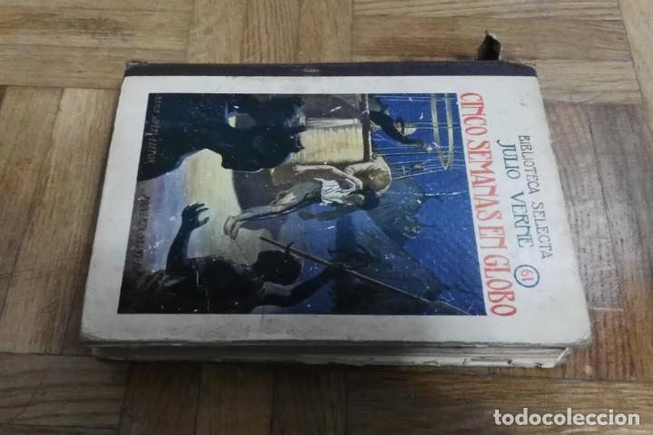 Libros antiguos: Cinco Semanas en Globo Julio Verne Biblioteca Selecta Nº 61 Editorial Ramón Sopena Barcelona 1934 - Foto 6 - 194101263