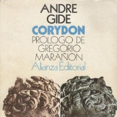 Libros antiguos: CORYDON DE ANDRÉ GIDE. Lote 194264222