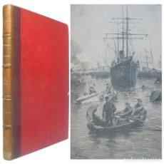 Libros antiguos: 1900 - JULIO VERNE: MISSTRESS BRANICAN - TEMPRANA ED. EN ESPAÑOL ILUSTRADA CON GRABADOS - 28 CM.. Lote 194941212