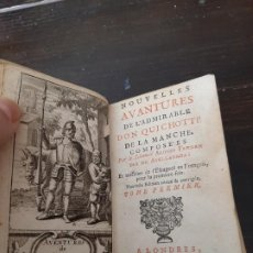 Libros antiguos: QUIJOTE AVELLANEDA, LONDRES 1707 EN FRANCES 2 TOMOS COMPLETO. Lote 195361798