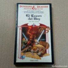 Libros antiguos: DUNGEONS & DRAGONS AVENTURA SIN FIN - NÚMERO 9 - EL TESORO DEL REY. Lote 196023806