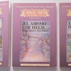 Libros antiguos: 3 LIBROS AVENTURA LA TIERRA MEDIA, EL ABISMO DE HELM, LAS MINAS DE MORIA, LA BÚSQUEDA DEL PALANTIR. Lote 196829677