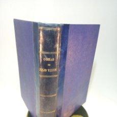 Libros antiguos: BIBLIOTECA DE GRANDES NOVELAS. JULIO VERNE. DE LA TIERRA A LA LUNA. VIAJE AL CENTRO DE LA TIERRA.. Lote 197855872