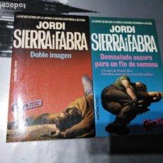Libros antiguos: JORDI SIERRA I FABRA - 2 LIBROS - NUEVOS. Lote 198962535