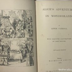 Libros antiguos: LEWIS CARROL. ALICE'S ADVENTURES IN WONDERLAND.. Lote 199260748
