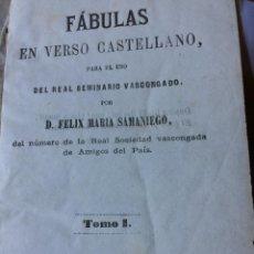 Libros antiguos: FELIX MARIA SAMANIEGO TOMO I 1869. Lote 201468930