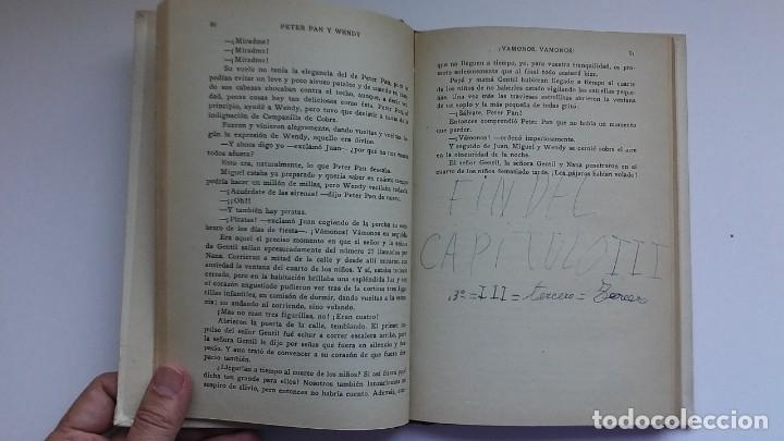 Libros antiguos: Peter Pan y Wendy: la historia del niño que no quiso crecer (1934) / J. M. Barrie. Juventud. - Foto 9 - 209185612