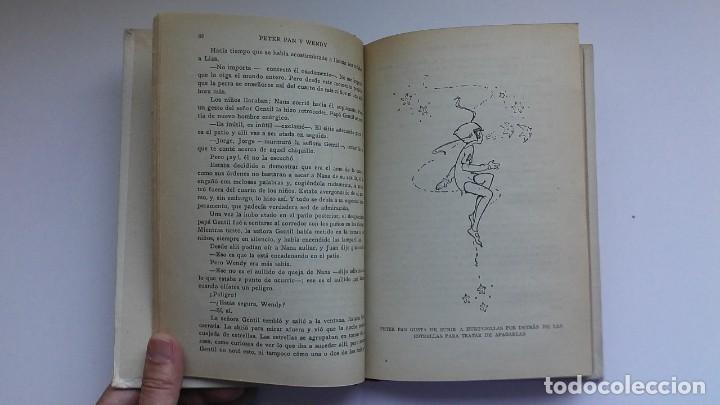 Libros antiguos: Peter Pan y Wendy: la historia del niño que no quiso crecer (1934) / J. M. Barrie. Juventud. - Foto 12 - 209185612