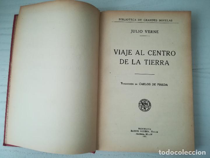 1931. VIAJE AL CENTRO DE LA TIERRA. J VERNE. EDITORIAL RAMÓN SOPENA. BIBLIOTECA DE GRANDES NOVELAS (Libros antiguos (hasta 1936), raros y curiosos - Literatura - Narrativa - Ciencia Ficción y Fantasía)
