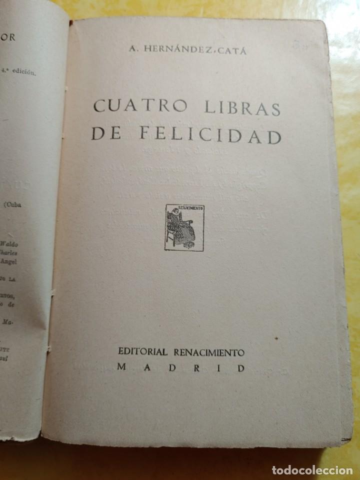Libros antiguos: 4 libras de felicidad, pymy 10 - Foto 2 - 216711572