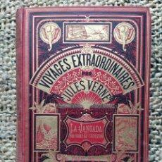 Libros antiguos: JULIO VERNE - LA JANGADA. BONITA PRIMERA EDICIÓN FRANCESA. 1881.. Lote 221584143