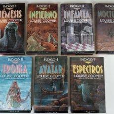Libros antiguos: SAGA ÍNDIGO, LOOISE COOPER, NÉMESIS, INFIERNO, INFANTA, NOCTURNO, TROIKA, AVATAR, ESPECTROS. TIMUN M. Lote 222147422