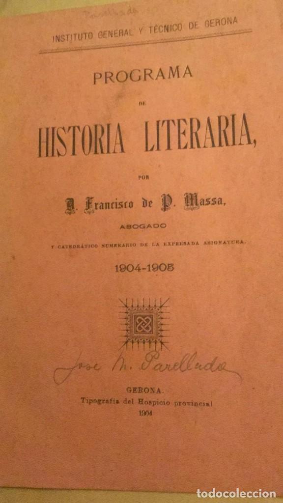 Libros antiguos: RESUMEN DE HISTORIA LITERARIA. NAVARRO Y LEDESMA, F. 1902 - Foto 2 - 229029440