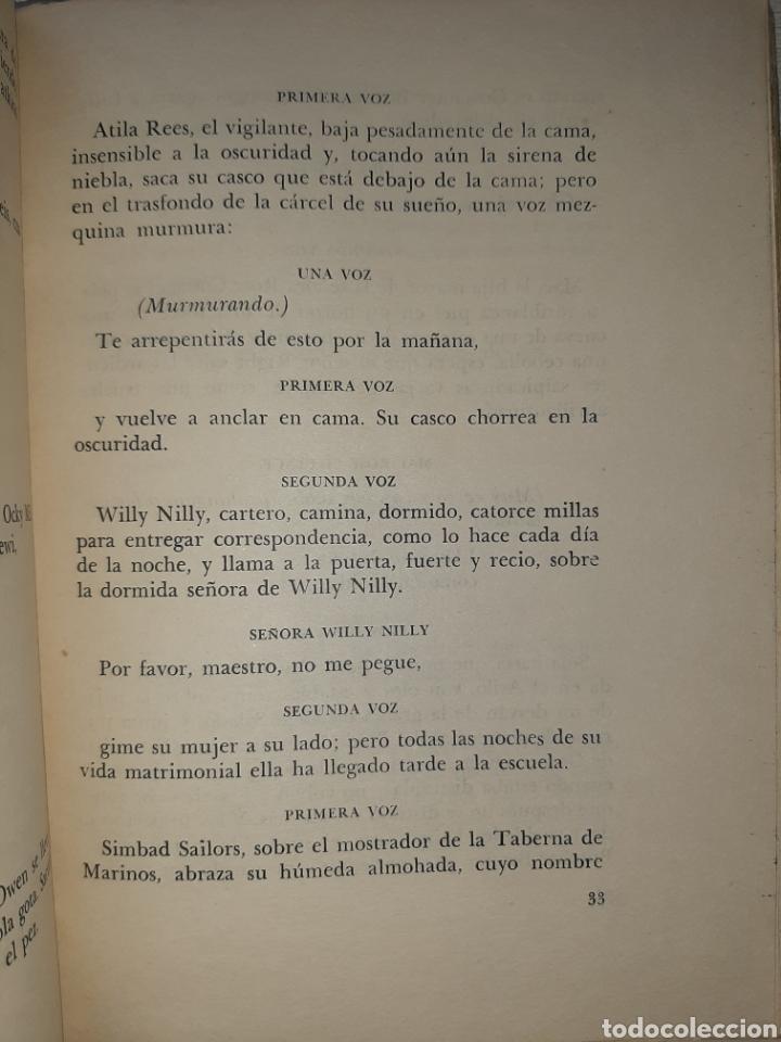Libros antiguos: Dylan THOMAS. Bajo el bosque de leche: Comedia para voces. 1959. Prólogo de Victoria Ocampo. - Foto 4 - 240874320