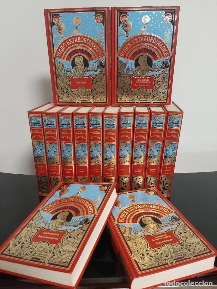 VIAJES EXTRAORDINARIOS DE JULIO VERNE COLECCIÓN DE 14 TOMOS (Libros antiguos (hasta 1936), raros y curiosos - Literatura - Narrativa - Ciencia Ficción y Fantasía)