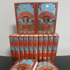 Libros antiguos: VIAJES EXTRAORDINARIOS DE JULIO VERNE COLECCIÓN DE 14 TOMOS. Lote 247134470