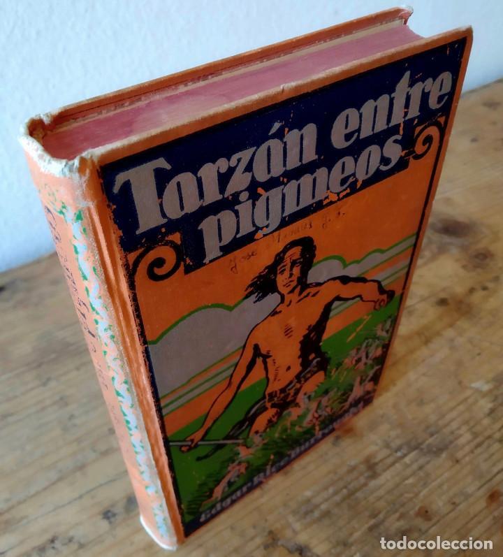 Libros antiguos: TARZÁN ENTRE PIGMEOS - Tapa dura - 1929 - Gustavo Gili - Buen estado - Foto 2 - 250216935