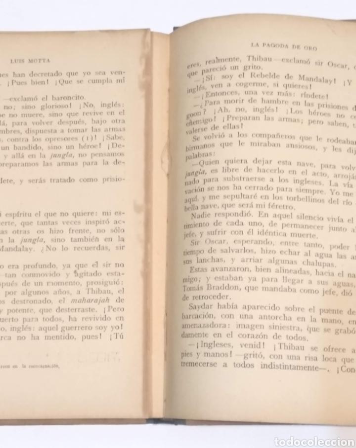 Libros antiguos: LA PAGODA DE ORO - LUIGI MOTTA - NOVELA DE AVENTURAS - EDITORIAL MAUCCI BARCELONA - Foto 13 - 251869775