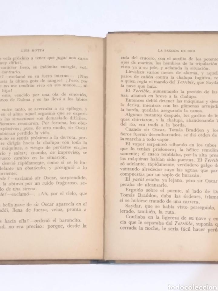 Libros antiguos: LA PAGODA DE ORO - LUIGI MOTTA - NOVELA DE AVENTURAS - EDITORIAL MAUCCI BARCELONA - Foto 12 - 251869775