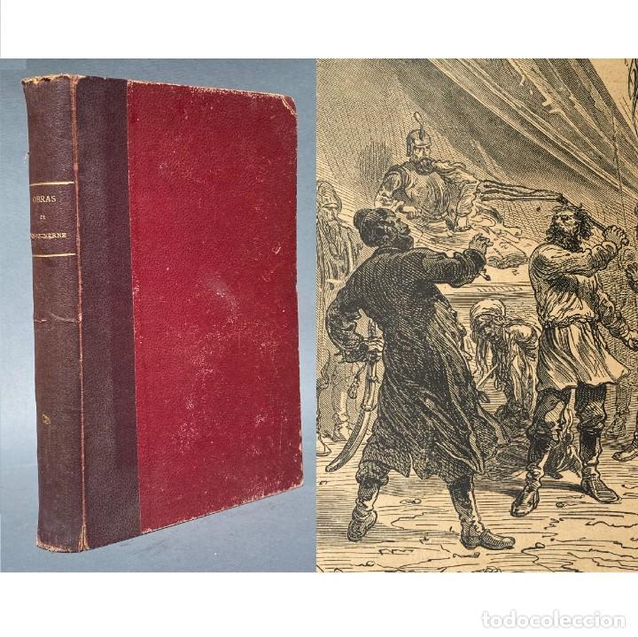 1890 JULIO VERNE - MUY ILUSTRADO - VIAJES - CIENCIA FICCIÓN - MIGUEL STROGOF - NOVELAS (Libros antiguos (hasta 1936), raros y curiosos - Literatura - Narrativa - Ciencia Ficción y Fantasía)