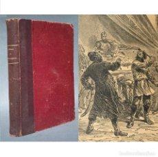 Libros antiguos: 1890 JULIO VERNE - MUY ILUSTRADO - VIAJES - CIENCIA FICCIÓN - MIGUEL STROGOF - NOVELAS. Lote 259776370