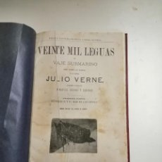 Libros antiguos: VEINTE MIL LEGUAS DE VIAJE SUBMARINO. JULIO VERNE. MANUEL ARANDA Y SANJUAN. S. XIX BARCELONA.. Lote 262878170