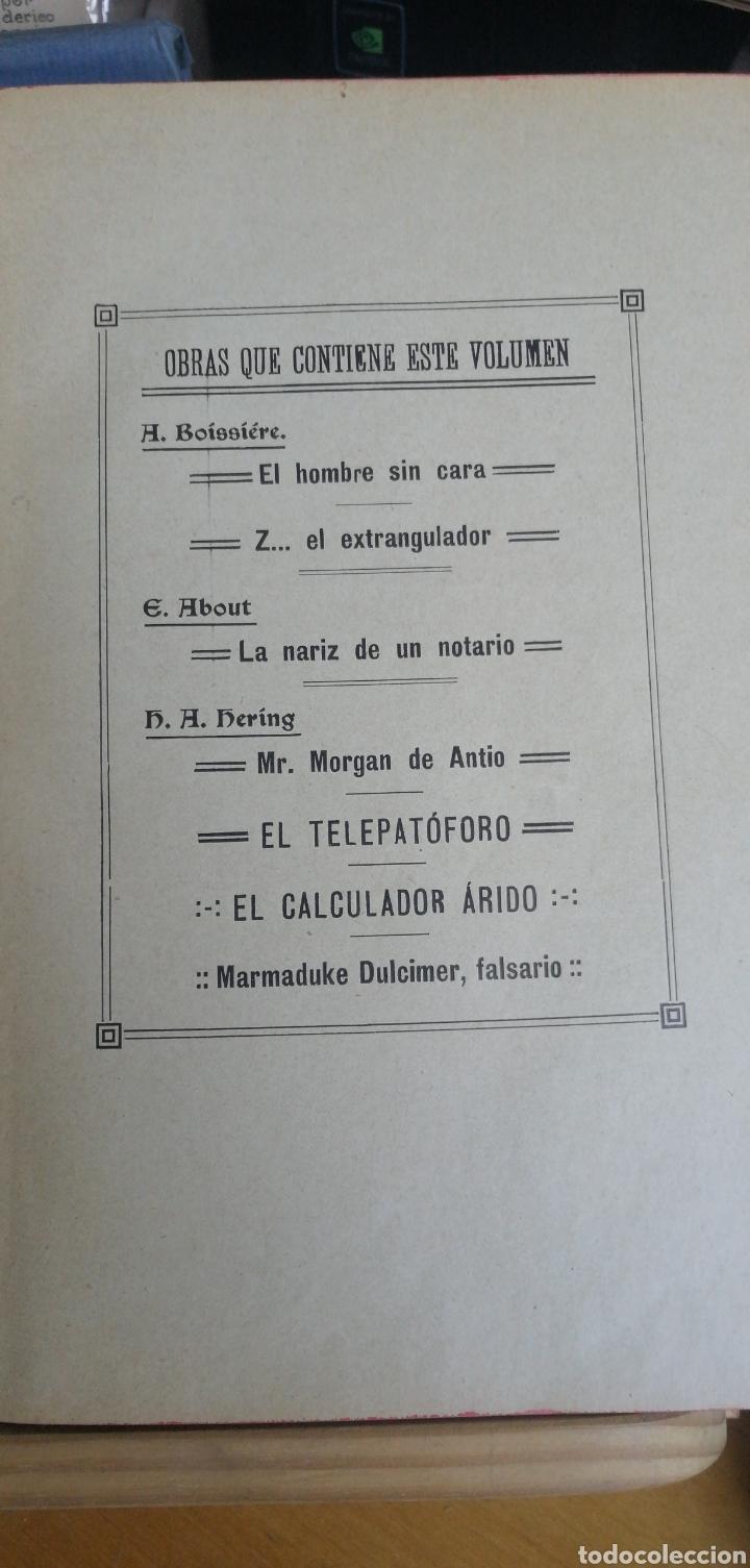 Libros antiguos: La novela de ahora. Volumen 7 titulos Cajjeja 1914. El hombre si cara Z... el extrangulador - Foto 2 - 268299354