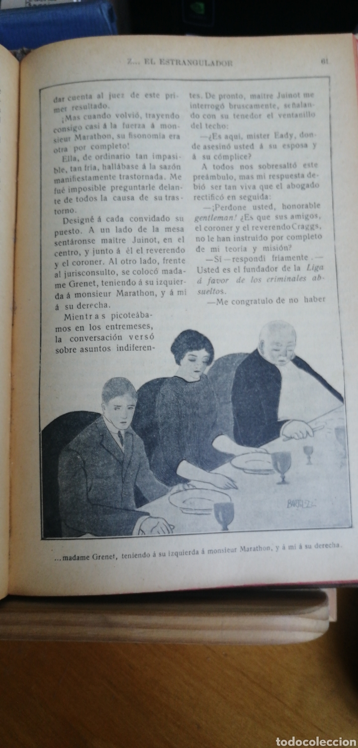 Libros antiguos: La novela de ahora. Volumen 7 titulos Cajjeja 1914. El hombre si cara Z... el extrangulador - Foto 8 - 268299354