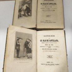Libros antiguos: AVENTURAS DE GIL BLAS DE SANTILLANA POR M. LE SAGE 1844. 1ª EDICCIÓN TOMO I Y II. Lote 80881615
