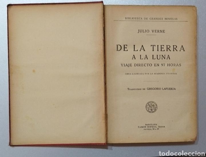Libros antiguos: De la Tierra a la Luna .Julio Verne - Foto 2 - 275777298