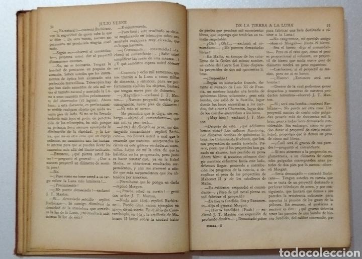 Libros antiguos: De la Tierra a la Luna .Julio Verne - Foto 3 - 275777298