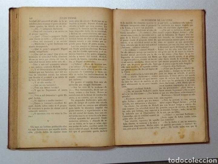 Libros antiguos: De la Tierra a la Luna .Julio Verne - Foto 4 - 275777298