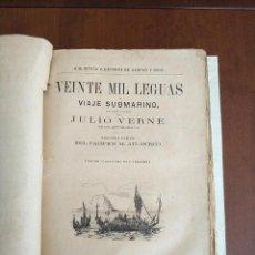 Libros antiguos: TOMO CON 5 NOVELAS JULIO VERNE VEINTE MIL LEGUAS DE VIAJE SUBMARINO 1878 1879 VER MAS EN DESCRIPCION. Lote 276264378