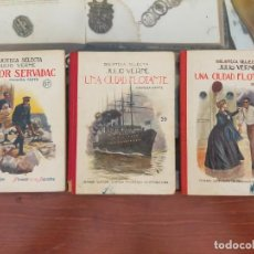 Libros antiguos: N* 39,40Y 57. BIBLIOTECA SELECTA. JULIO VERNE (UNA CIUDAD FLOTANTE FLOTANTE 1924, HÉCTOR SERVADAC19. Lote 277020593