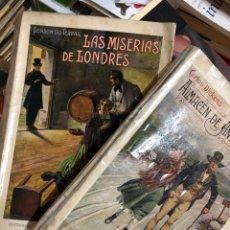 Libros antiguos: LOTE 1931: LAS MISERIAS DE LONDRES Y ALMACÉN DE ANTIGÜEDADES - DICKENS Y DU TERRAIL. Lote 285687948