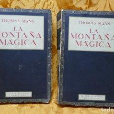 Libros antiguos: LA MONTAÑA MAGICA, TOMAS MANN, ED.APOLO-BARCELONA, 1935 TOMO I Y II. Lote 289668028