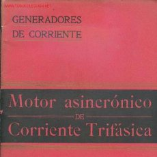 Libros antiguos: ANTONIO FERRER DALMAU - MOTOR ASINCRÓNICO DE CORRIENTE TRIFÁSICA. Lote 27389265