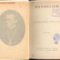 Libros antiguos: REGINALD CRUNDALL PUNNETT - MENDELISM (OBRA EN INGLÉS), AÑO 1919, CERTIFICADO GRATIS. Lote 23452633