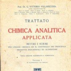 Libros antiguos: 1936 TRATADO DE QUIMICA APLICADA DOS TOMOS. Lote 22224340